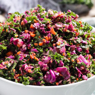 Kale, Cabbage, and Carrot Fall Slaw