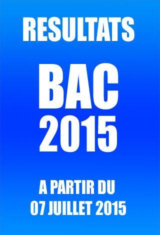 BAC 2015 RESULTATS