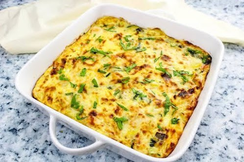 Cheesy Pasta and Veggie Frittata