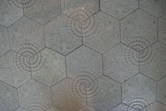 Photo: Another tile floor by Gaudi at La Pedrera, Barcelona