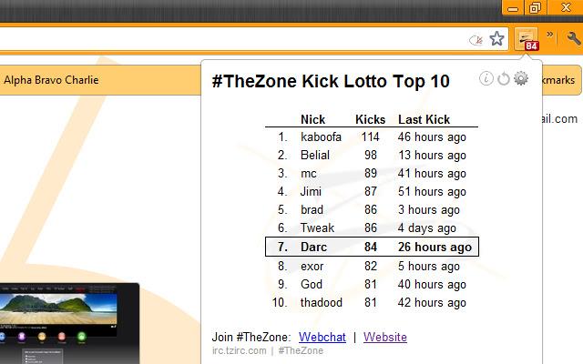 #TheZone Kick Lotto Stats