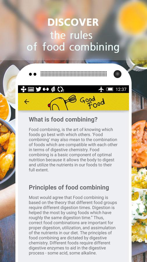Good food food combining android apps on google play good food food combining screenshot forumfinder Choice Image