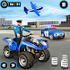 US Police ATV Quad Bike Plane Transport Game - Androidアプリ