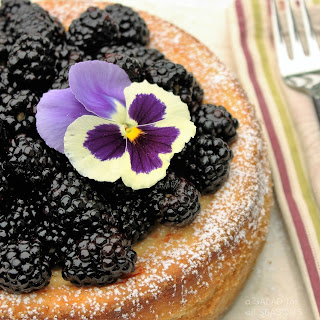 Ricotta Cheesecake with Blackberries