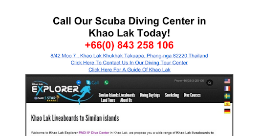 Khao Lak Scuba Adventures - +66(0) 843 258 106 - Khao Lak Explorer Dive Center