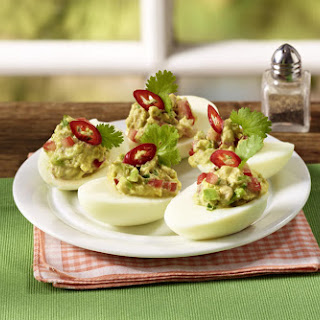Guacamole Deviled Eggs.
