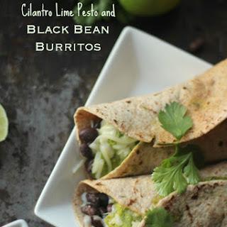 Cilantro Lime Pesto Recipe & Black Bean Burrito .