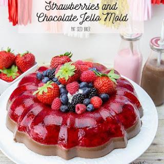 Strawberry and Chocolate Jello Mold