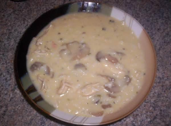 Creamy Chicken Rice And Mushrooms
