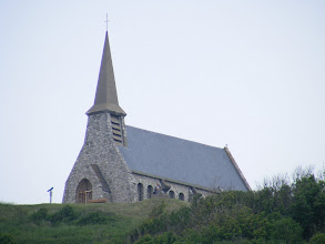 Photo: We now turn seaside, and a view of the seaman's chapel (Notre-Dame-de-la-Garde), high on the Amont Falaise (cliff).