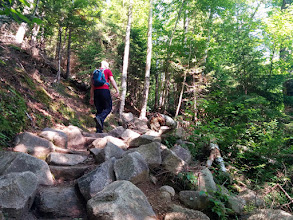 Photo: Big stone steps on the trail