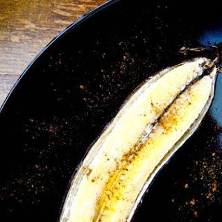 Baked Split Banana