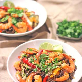 Shrimp Soba Noodle Stir-Fry