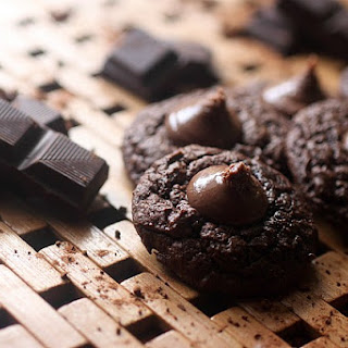 Double Dark Chocolate Thumbprint Cookies