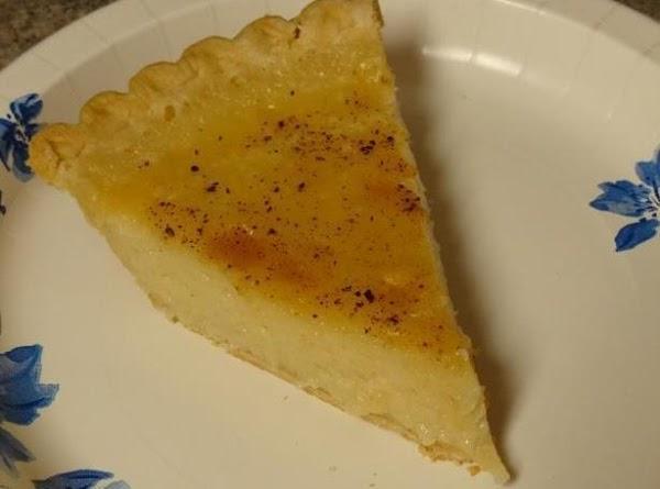 Amish Sugar Cream Pie Recipe