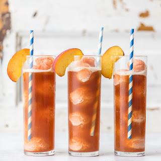 Peach Tea Ice Cream Floats.