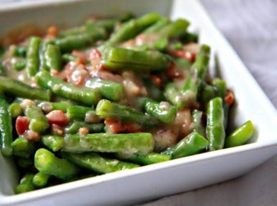 Anytime Sour Cream Green Beans Recipe