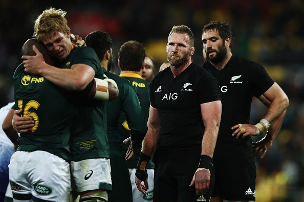 Kieran Read of the All Blacks looks on after losing The Rugby Championship match between the New Zealand All Blacks and the South Africa Springboks at Westpac Stadium on September 15, 2018 in Wellington, New Zealand.