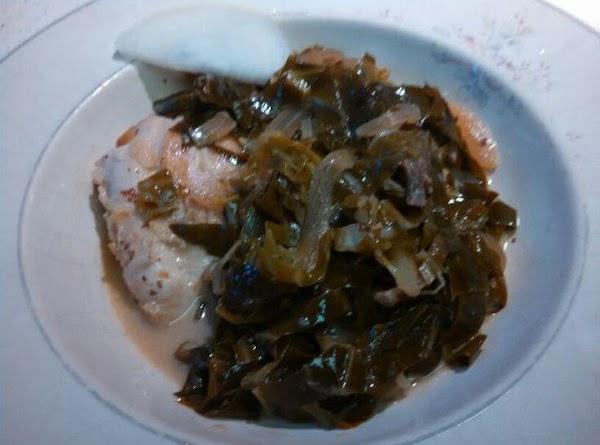 Vinegar Braised Chicken With Greens Recipe