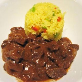 Beef Curry with Saffron Rice.