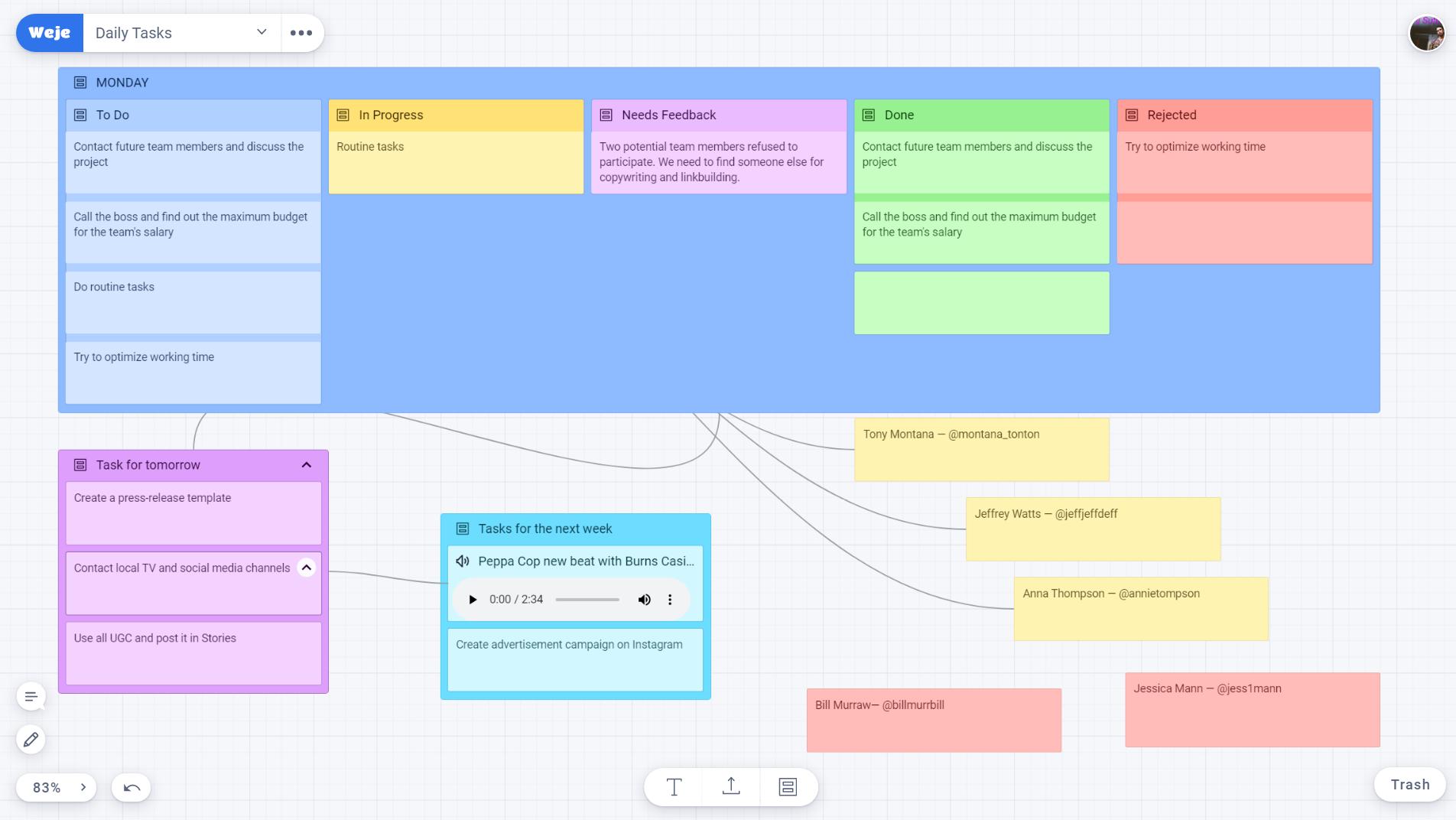 Create mindmaps
