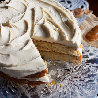 Salted Caramel Vanilla Bean Layer Cake
