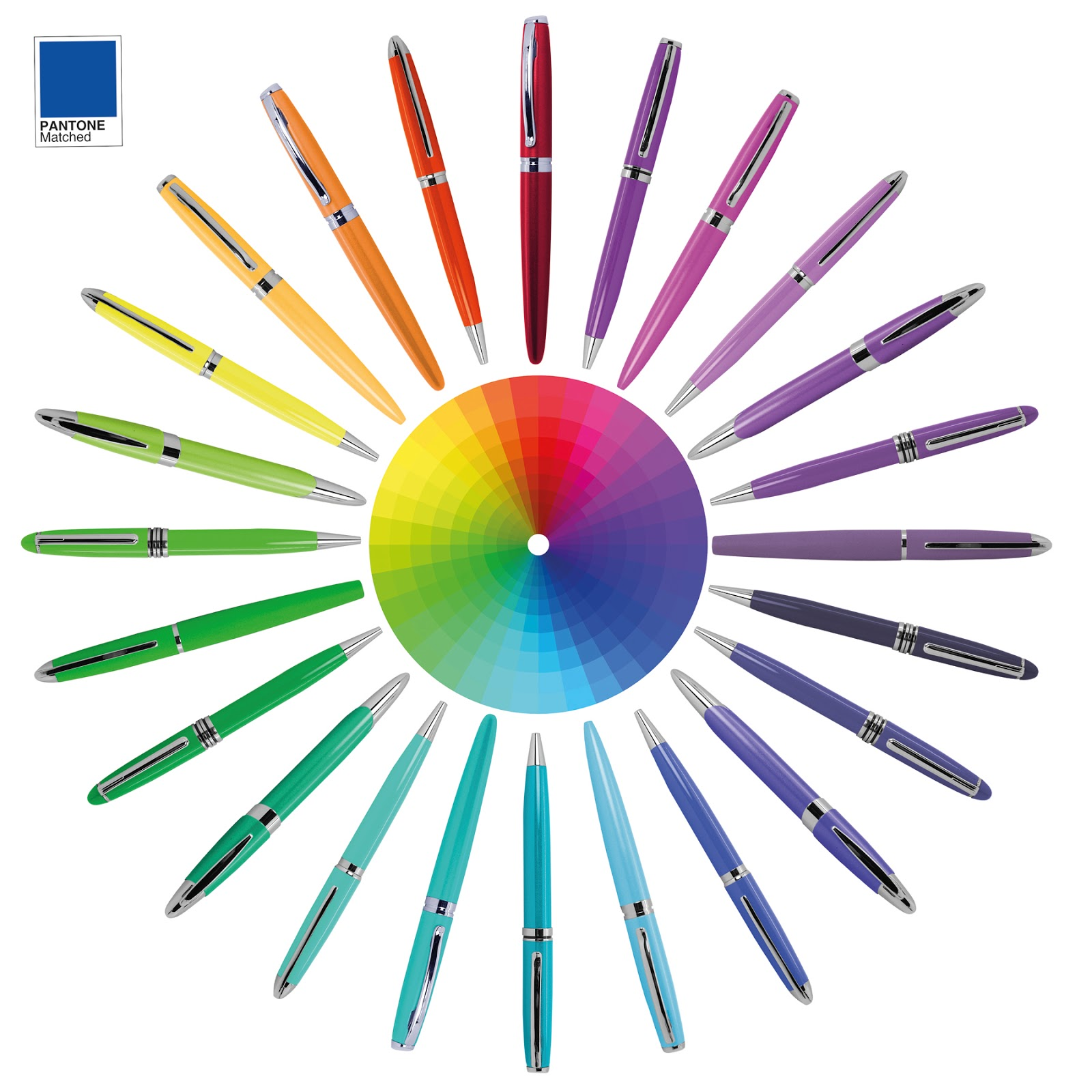 Colour Match Metal Pens