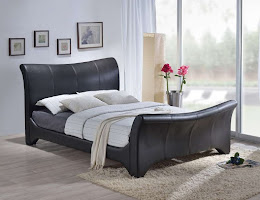 Contemporary Sleigh bedstead with a unique wave design