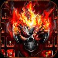 Horror skull Keyboard Theme Fire Skull apk
