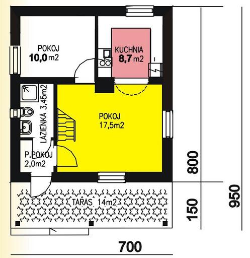 BR-137 letniskowy - Rzut parteru