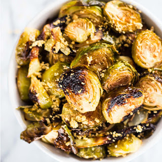 Sheet Pan Rosemary Garlic Brussels Sprouts.