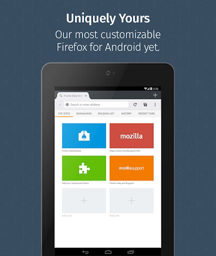 Firefox for Android Beta screenshots 10