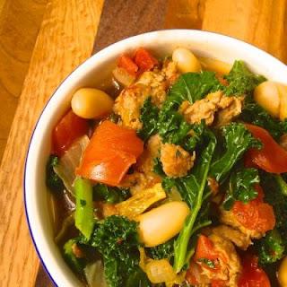 Turkey Sausage, Kale & White Bean Soup