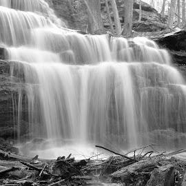 Downhill Flow by Monroe Phillips - Black & White Landscapes