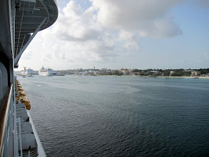 Photo: Entering Nassau on the Disney Dream
