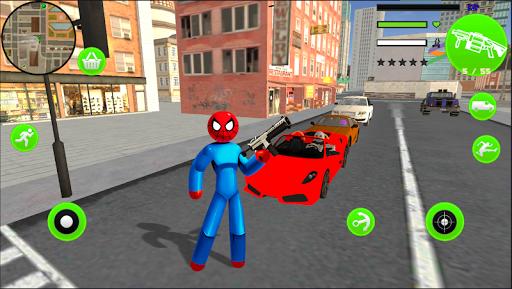 Spider StickMan Rope Hero Mafia Gangster Vegas screenshot 4