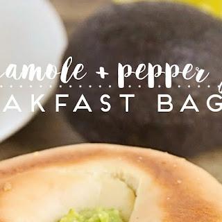 Guacamole And Pepper Jack Breakfast Bagels