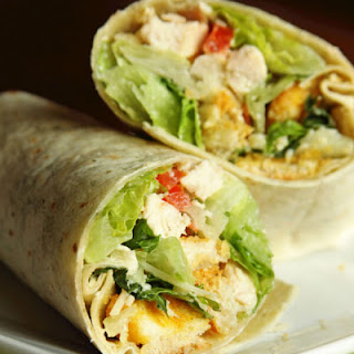 Chicken Caesar Wraps.