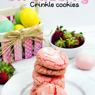 Strawberry Crinkle Cookies Recipe