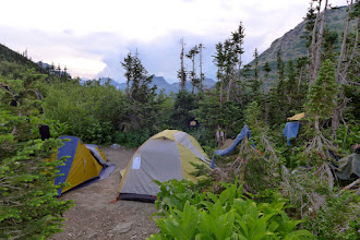 Photo: Our campsite at Stony Indian on night #2