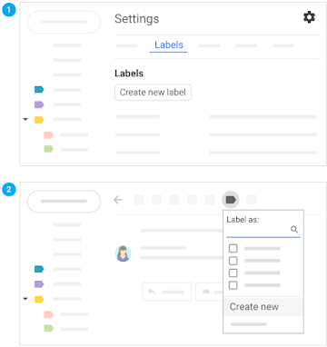 Create a label from email