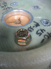 Photo: Prop bolts with thick washer.  This is prior to installing the Belleville Washer solution.