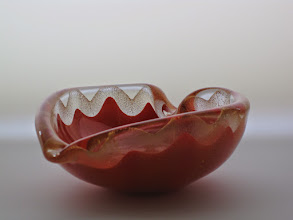 Photo: Barbini bowl with gold leaf.