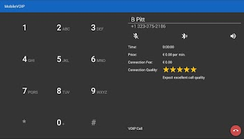 Screenshot of MobileVOIP Cheap Voip Calls