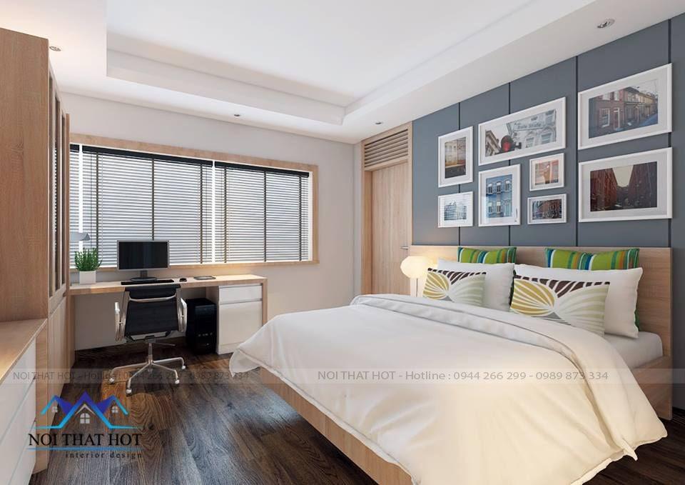 thiết kế phòng ngủ chung cư gọn gàng đơn giản