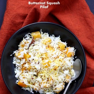 Butternut Squash Pilaf with whole spices