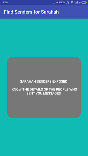 Find Senders for Sarahah for PC