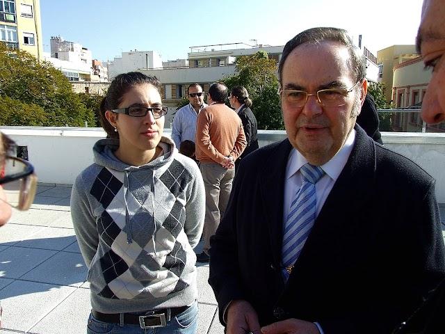 Antonio Joaquín Dubé de Luque junto a la actual hermana mayor del Prendimiento, Mª del Mar Marín, año 2009.
