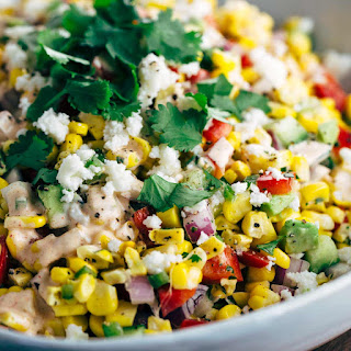 Mexican Street Corn Salad with Chipotle Dressing.