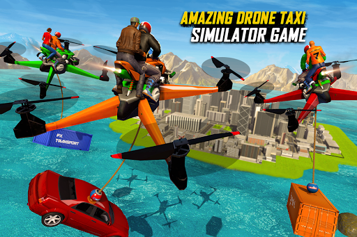 Drone Rescue Simulator: Flying Bike Transport Game android2mod screenshots 4